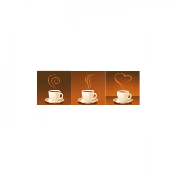 Coffee Addict 3 Parça Kanvas Tablo 40X120 Cm