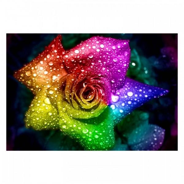 Colorful Rose 95x70 cm Kanvas Tablo