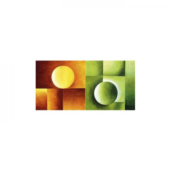 Colourful Circle 2 Parça Kanvas Tablo 80X40 Cm