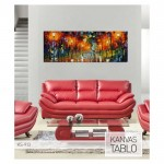 Colourful Night-2 Kanvas Tablo 40x120 Cm