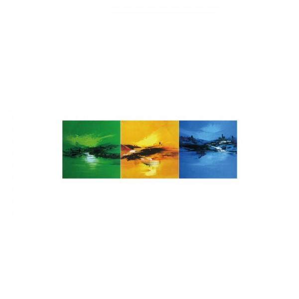 Colourful Sea 3 Parça Kanvas Tablo 40X120 Cm