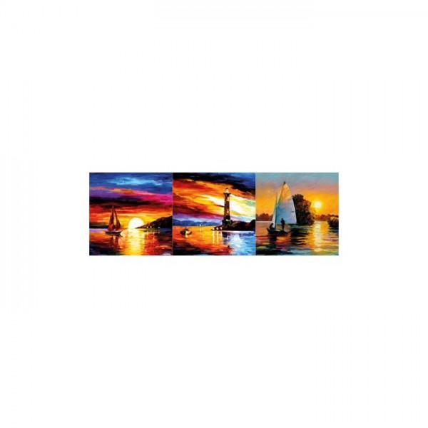 Colourful Sky 3 Parça Kanvas Tablo 40X120 Cm