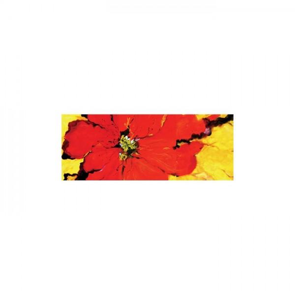 Cool Red Kanvas Tablo 40X120 Cm