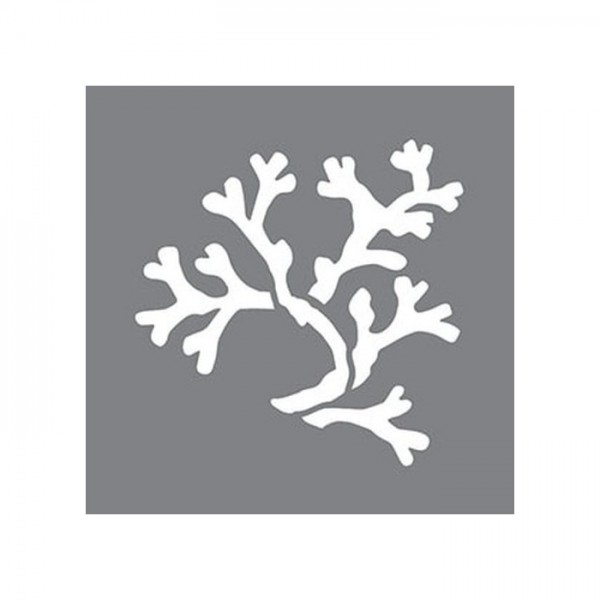Coral Stencil Tasarımı 30 x 30 cm