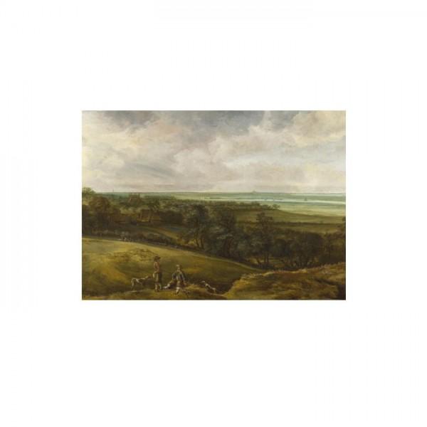 Cornelis van der Schalcke - An Extensive River Landscape 50x70 cm