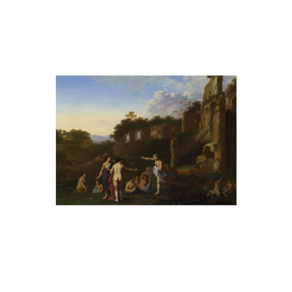 Cornelis van Poelenburgh - Women bathing in a Landscape 50x70 cm