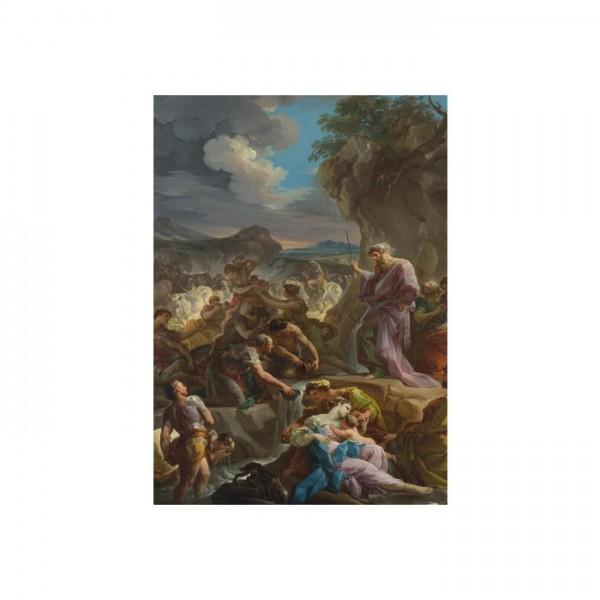 Corrado Giaquinto - Moses striking the Rock 50x70 cm