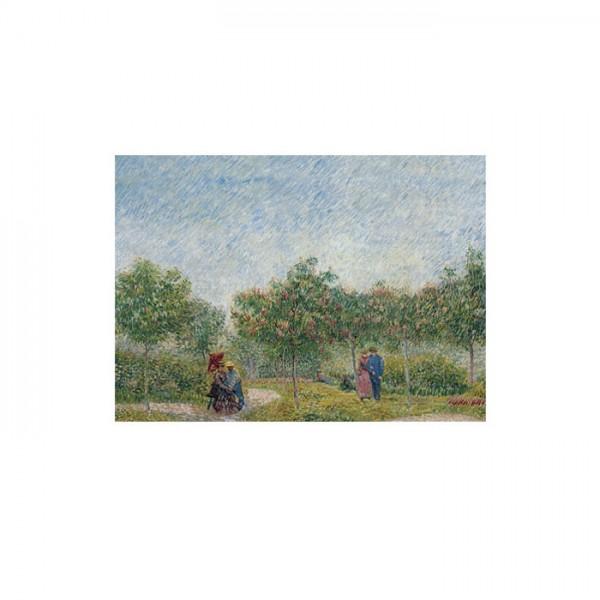 Couples in the Voyer d'Argenson park at Asnieres 50x70 cm