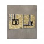 Creative Shapes-2 2 Parça Kanvas Tablo 80X40 Cm