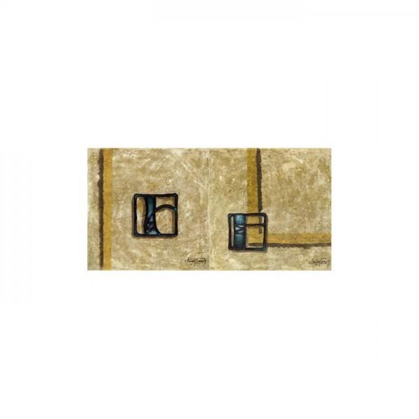 Creative Shapes 2 Parça Kanvas Tablo 80X40 Cm