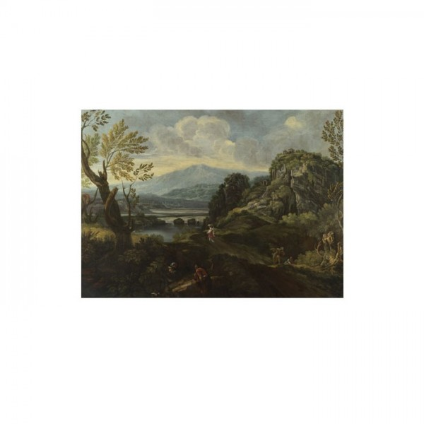 Crescenzio Onofri - Landscape with Figures 50x70 cm
