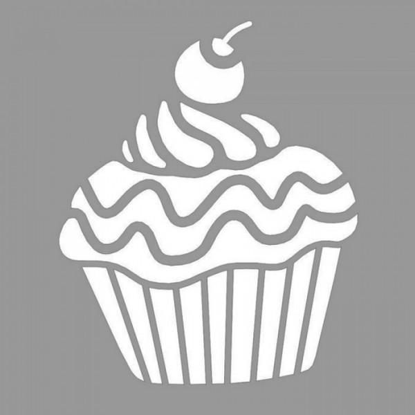 Cupcake Coconut Stencil Tasarımı 30 x 30 cm