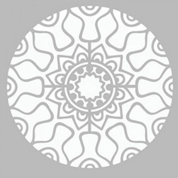 Cyberpunk Mandala Stencil Tasarımı 30 x 30 cm