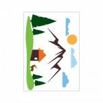Dağ Klozet Sticker