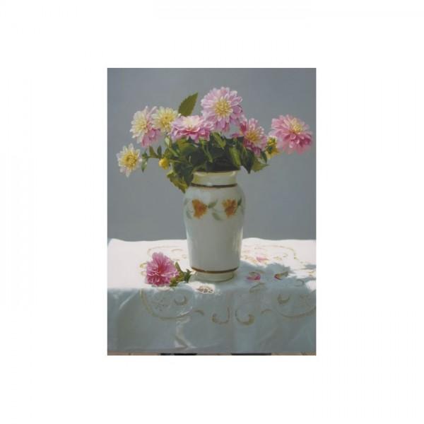 Dahlia Çiçekler Kanvas Tablo 50X70 Cm