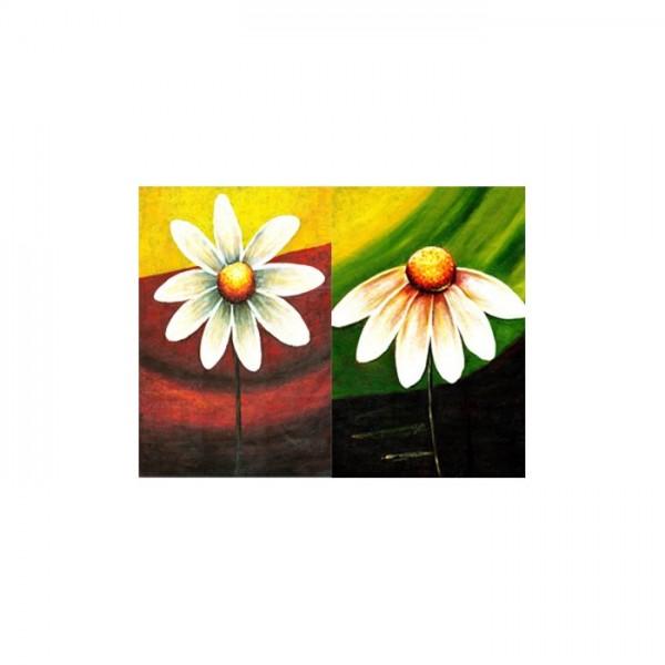 Daisies-2 2 Parça Kanvas Tablo 80X100 Cm