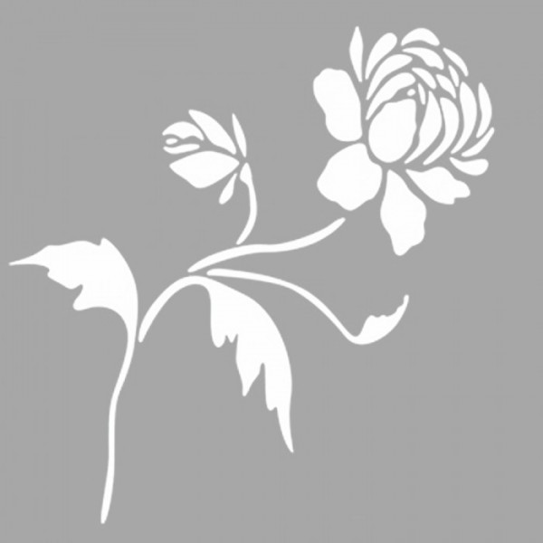 Dal Çiçek Stencil Tasarımı 30 x 30 cm