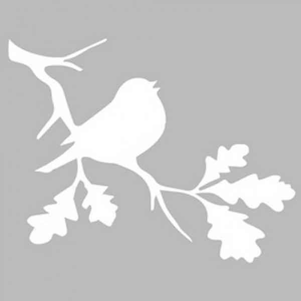 Dalda Kuş Stencil Tasarımı 30 x 30 cm