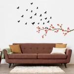 Dalından Uçan Kuşlar Duvar Sticker, Duvar Dekorasyonu, Duvar Çıkartması