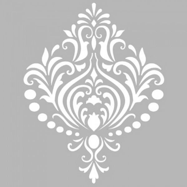 Damask 13 Stencil Tasarımı 30 x 30 cm