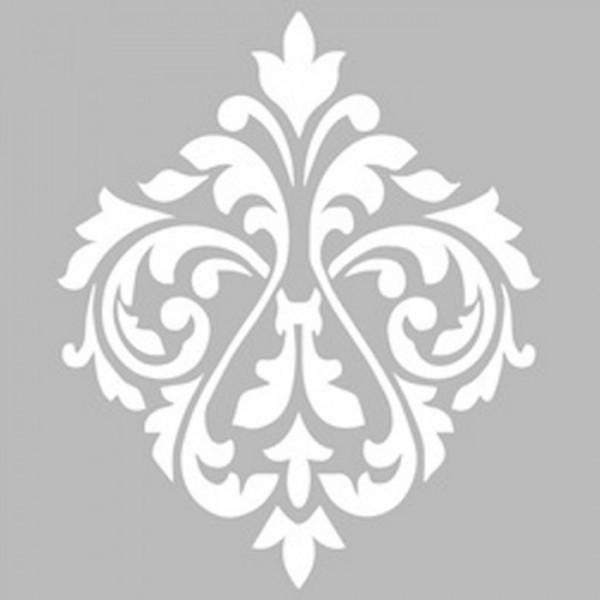 Damask 5 Stencil Tasarımı 30 x 30 cm