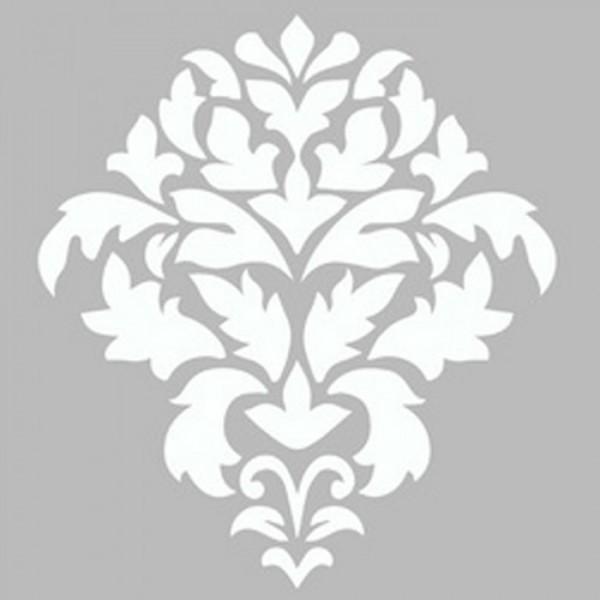 Damask 6 Stencil Tasarımı 30 x 30 cm