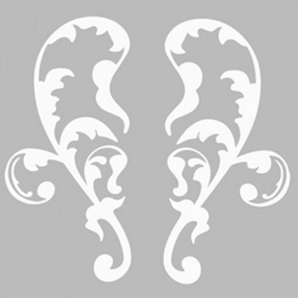 Damask 8 Stencil Tasarımı 30 x 30 cm