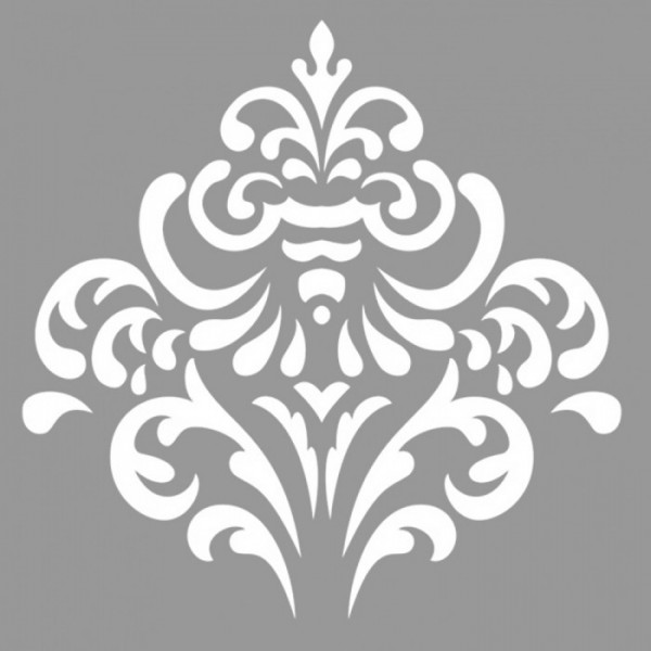 Damask Azelea Stencil Tasarımı 30 x 30 cm
