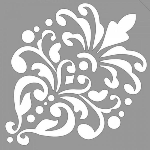 Damask Carol Stencil Tasarımı 30 x 30 cm