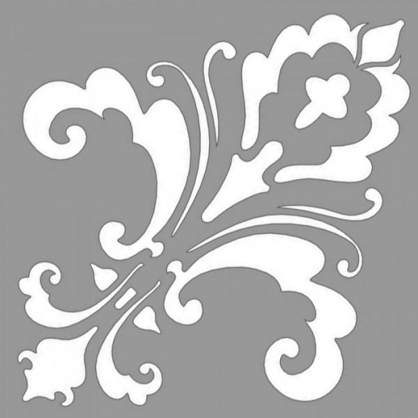 Damask Cheryl Stencil Tasarımı 30 x 30 cm