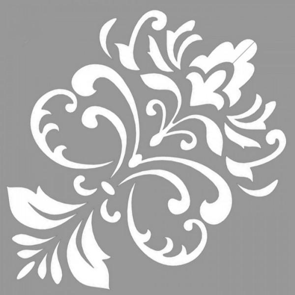 Damask Kathy Stencil Tasarımı 30 x 30 cm