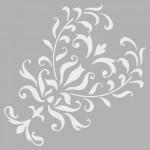Damask Stencil Tasarımı 30 x 30 cm