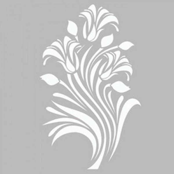 Damask Zambak Stencil Tasarımı 30 x 30 cm