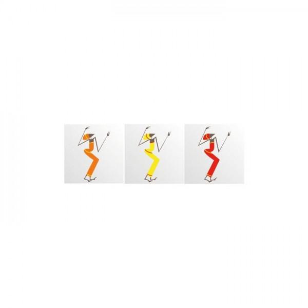 Dancing Ladies 3 Parça Kanvas Tablo 40X120 Cm