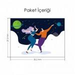 Dans Eden Çift İlüstrasyon Notebook Sticker