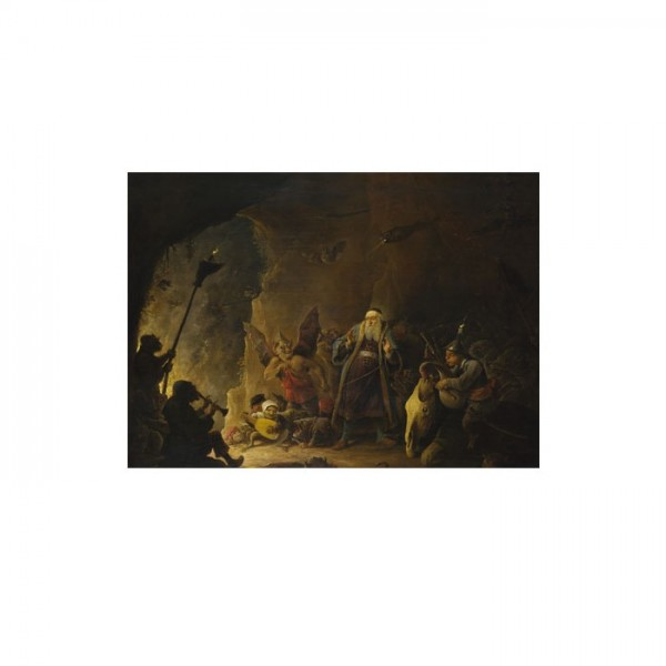 David Teniers the Younger - The Rich Man being led to Hell 50x70 cm