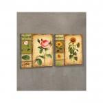 Decorative Roses 2 Parça Kanvas Tablo 80X40 Cm