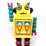 Decotown Nostaljik Sevimli Uzaylı Robot Şeklinde Figür Biblo