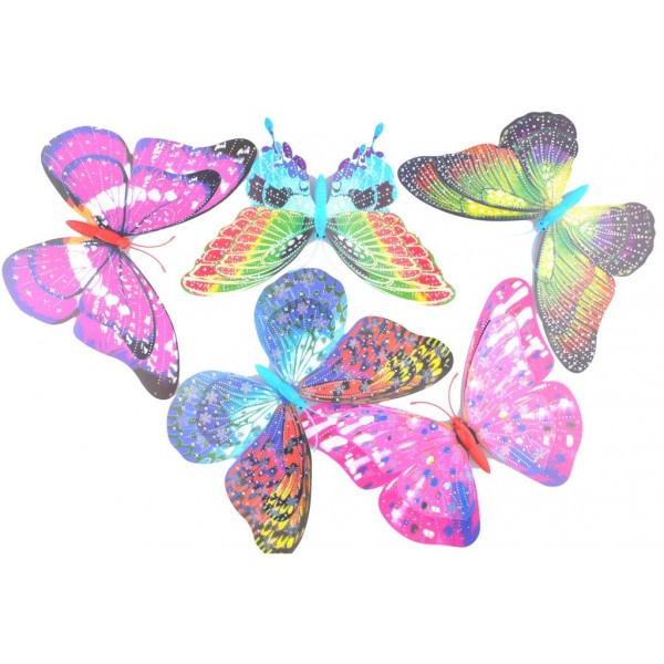 Dekoratif Saksı Duvar Perde Süs Kelebekleri Büyük Boy 5 Adet