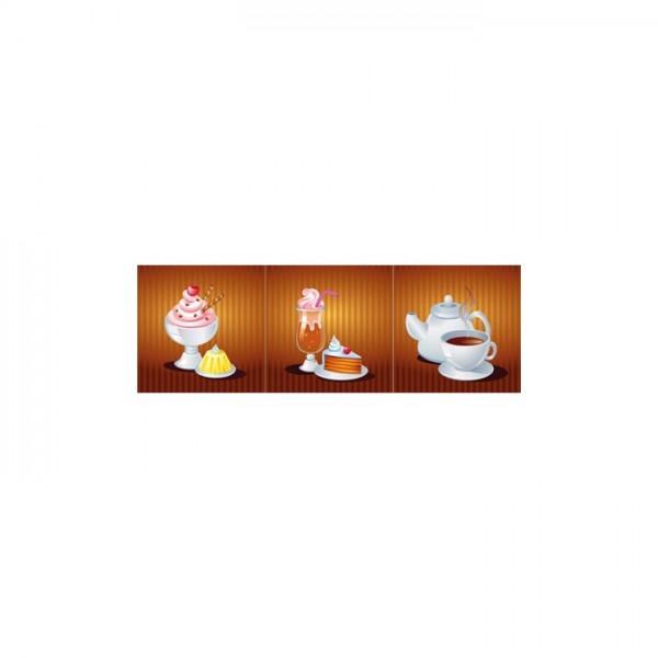 Delicious 3 Parça Kanvas Tablo 40X120 Cm