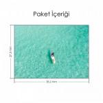 Denizde Yalnız Tekne Notebook Sticker