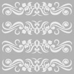 Desen 4 Stencil Tasarımı 30 x 30 cm