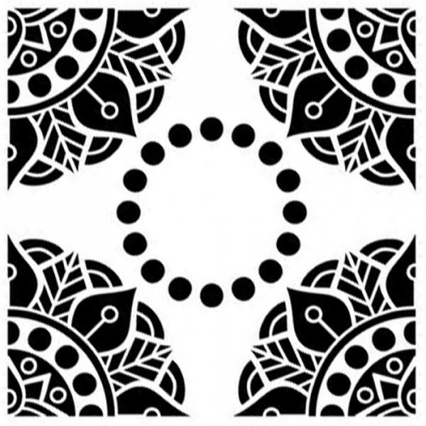 Dış Quad Mandala Stencil Tasarımı 30 x 30 cm