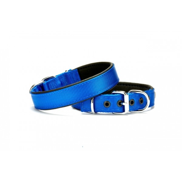 Doggie Softlu Dokuma Köpek Tasması 2,5 cm x 50 cm Mavi