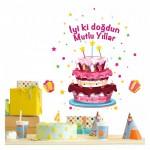 Doğum Günü Partisi-2 98 x101 cm Duvar Sticker
