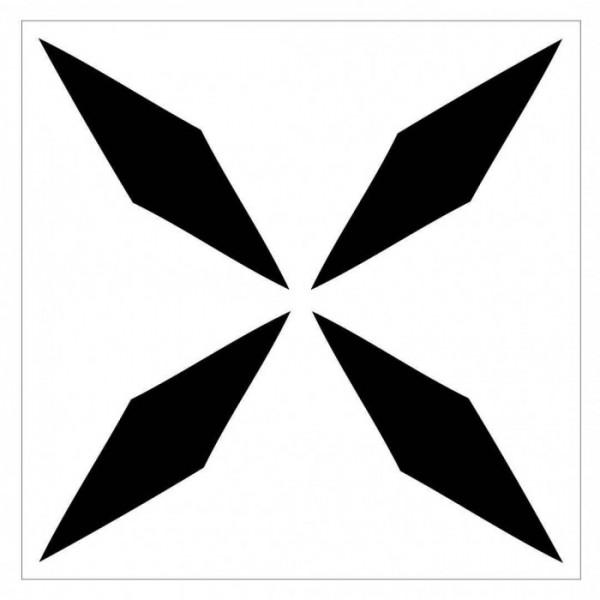Dört Uçlu Yıldız Stencil Tasarımı 30 x 30 cm