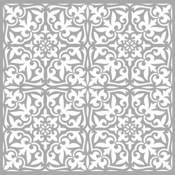 Dörtlü Karo 3 Stencil Tasarımı 30 x 30 cm