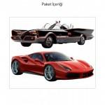 Dream Cars-3 Dev Duvar Sticker