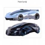 Dream Cars-4 Dev Duvar Sticker