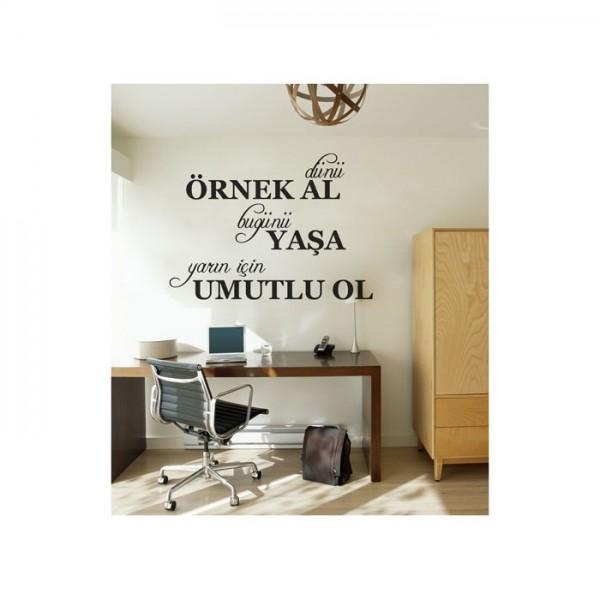 Dün Bugün Yarın Duvar Yazısı 80x57 cm